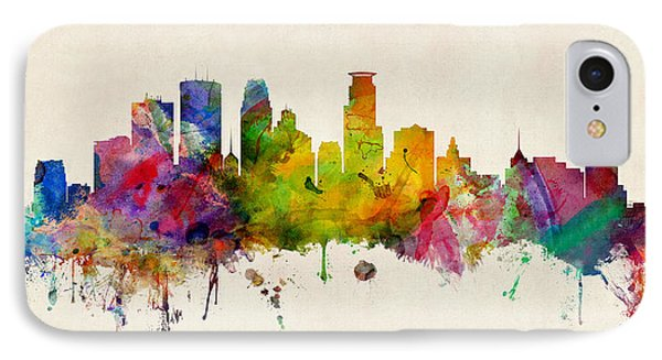 Minneapolis Minnesota Skyline IPhone Case by Michael Tompsett
