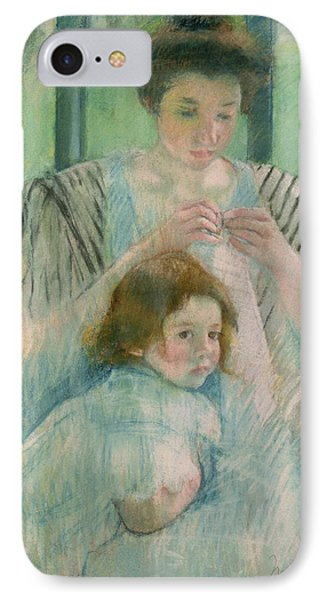 Mother And Child IPhone Case by Mary Stevenson Cassatt