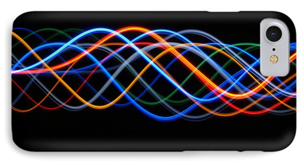 Moving Lights, Abstract Image IPhone Case by Lawrence Lawry