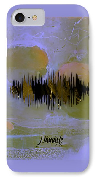 Namaste Spoken Soundwave IPhone Case by Marvin Blaine