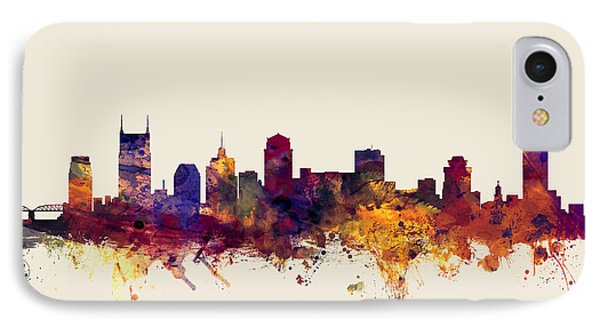 Nashville Tennessee Skyline IPhone Case by Michael Tompsett
