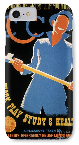 New Deal: Wpa Poster IPhone Case by Granger