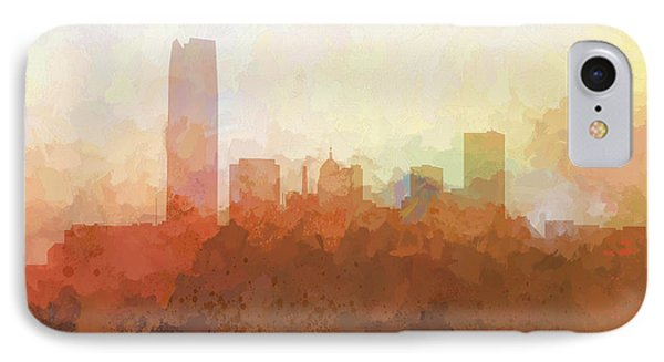 IPhone Case featuring the digital art Oklahoma City Oklahoma Skyline by Marlene Watson