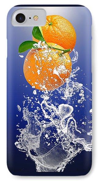 Orange Splash IPhone 7 Case by Marvin Blaine