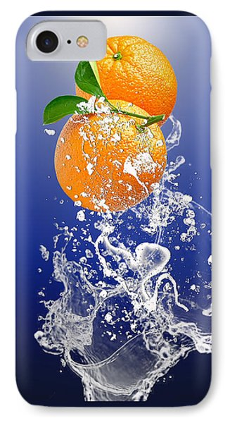 IPhone Case featuring the mixed media Orange Splash by Marvin Blaine