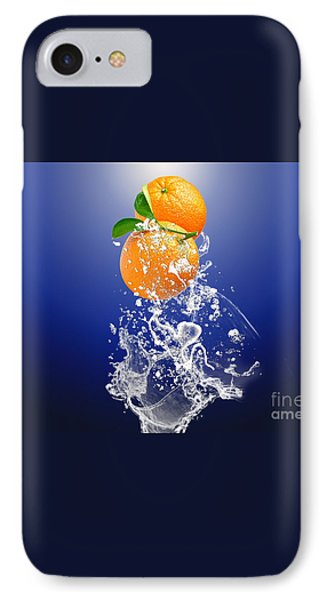 IPhone 7 Case featuring the mixed media Orange Splash by Marvin Blaine