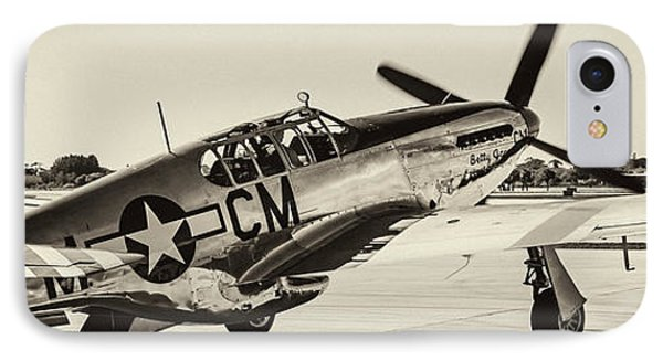P51 Mustang IPhone Case by Chris Smith