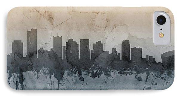 Phoenix iPhone 7 Case - Phoenix Arizona Skyline by Michael Tompsett