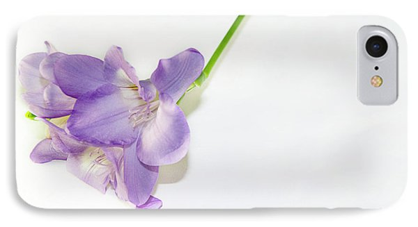 Purple Freesia IPhone Case by Elvira Ladocki