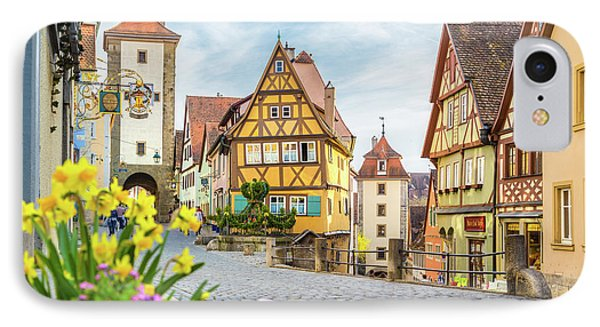 Rothenburg Ob Der Tauber IPhone Case by JR Photography