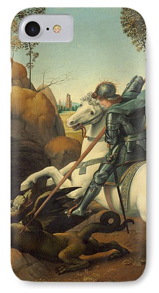 Saint George And The Dragon IPhone Case by Raphael