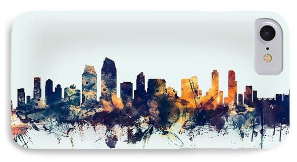 San Diego California Skyline IPhone Case by Michael Tompsett