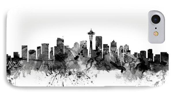 Seattle Washington Skyline IPhone 7 Case by Michael Tompsett