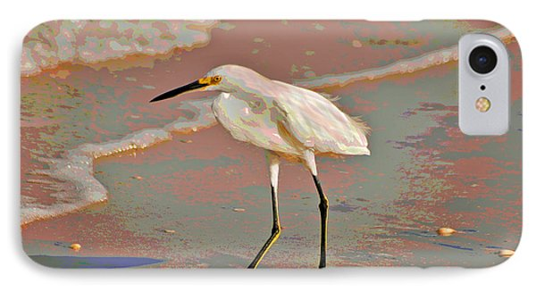 IPhone Case featuring the photograph 6- Snowy Egret by Joseph Keane