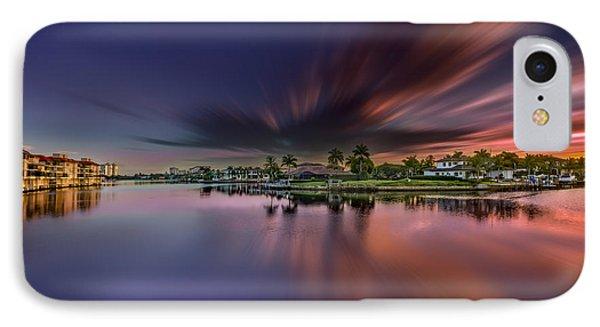 Sunrise At Naples, Florida IPhone Case by Peter Lakomy