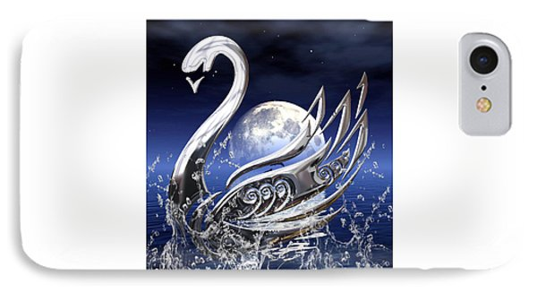 Swan Art IPhone Case by Marvin Blaine