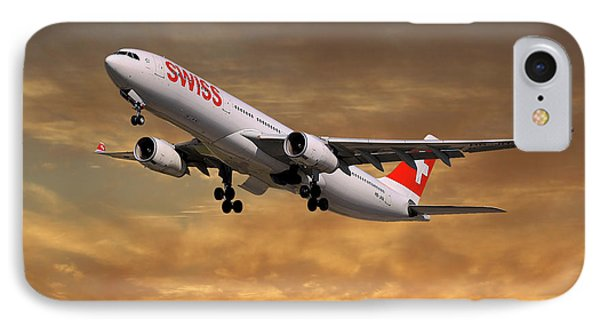 Jet iPhone 7 Case - Swiss Airbus A330-343 by Smart Aviation