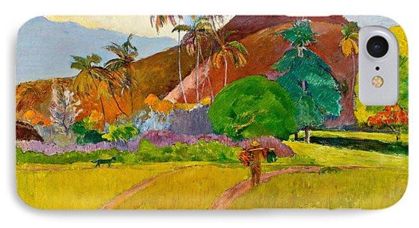 Tahitian Landscape IPhone Case by Paul Gauguin