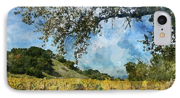 Vineyard In Napa Valley California IPhone Case by Brandon Bourdages