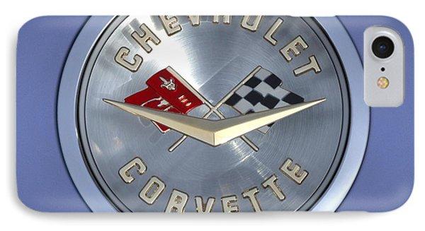 60 Chevy Corvette Emblem  Phone Case by Mike McGlothlen