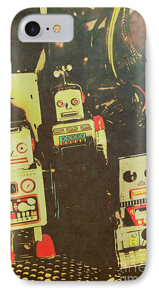 60s Cartoon Character Robots IPhone Case by Jorgo Photography - Wall Art Gallery