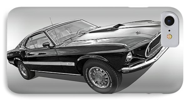 69 Mach1 In Black And White IPhone Case by Gill Billington