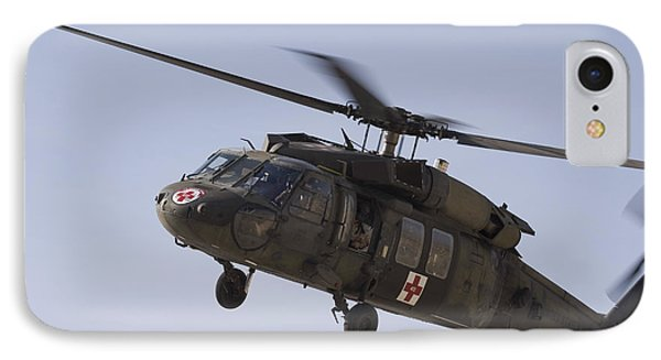 A Uh-60 Blackhawk Medivac Helicopter IPhone Case by Terry Moore
