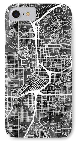 Atlanta Georgia City Map IPhone Case by Michael Tompsett