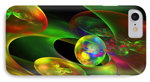 Computer Generated Planet Sphere Abstract Fractal Flame Modern Art IPhone Case by Keith Webber Jr