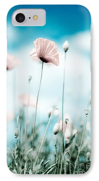 Corn Poppy Flowers IPhone Case by Nailia Schwarz