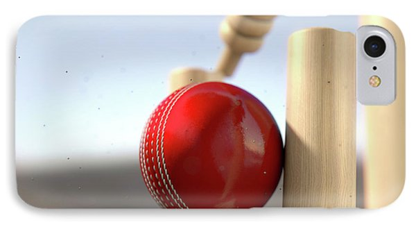 Cricket Ball Hitting Wickets IPhone 7 Case by Allan Swart