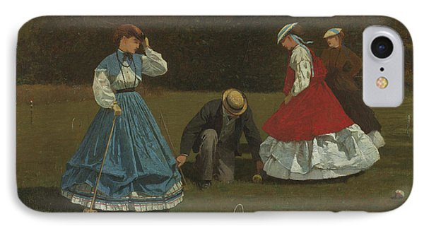 Croquet Scene IPhone Case by Winslow Homer
