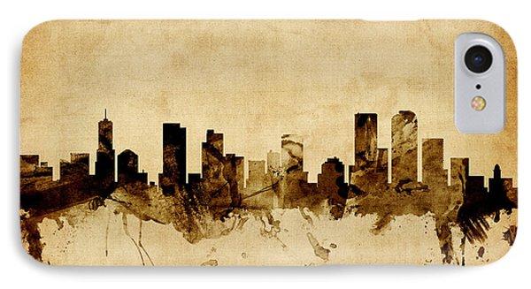 Denver Colorado Skyline IPhone Case by Michael Tompsett