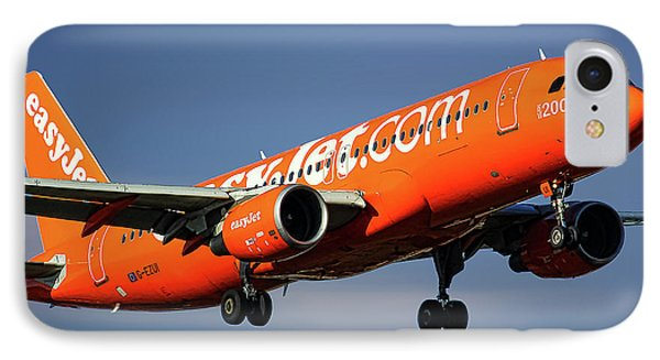 Jet iPhone 7 Case - Easyjet 200th Airbus Livery Airbus A320-214 by Smart Aviation