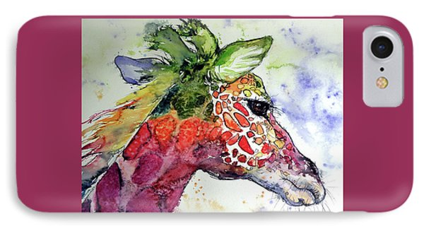 IPhone Case featuring the painting Giraffe  by Kovacs Anna Brigitta