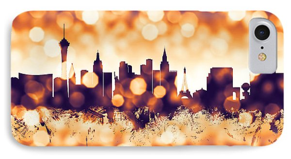 Las Vegas Nevada Skyline IPhone Case by Michael Tompsett