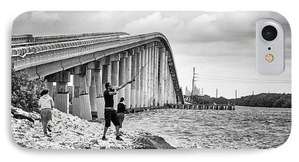 7 Mile Bridge B_w IPhone Case by John McArthur