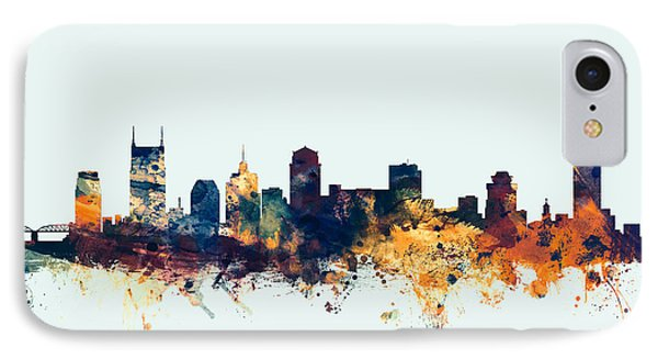 Nashville Tennessee Skyline IPhone 7 Case by Michael Tompsett
