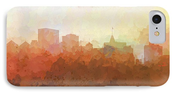 IPhone Case featuring the digital art Oakland California Skyline by Marlene Watson