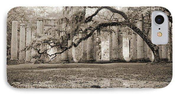Old Sheldon Church Ruins IPhone Case by Dustin K Ryan