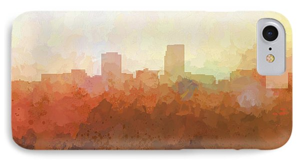 IPhone Case featuring the digital art Omaha Nebraska Skyline by Marlene Watson