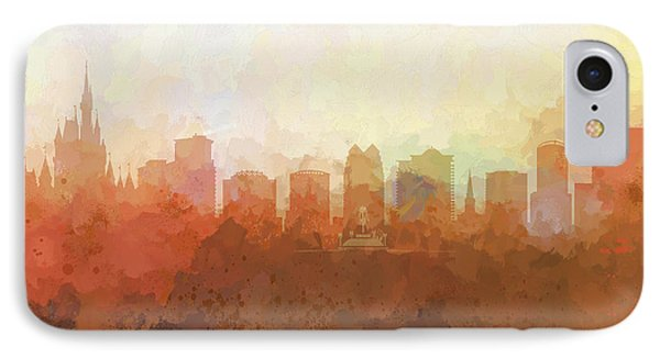 IPhone Case featuring the digital art Orlando Florida Skyline by Marlene Watson