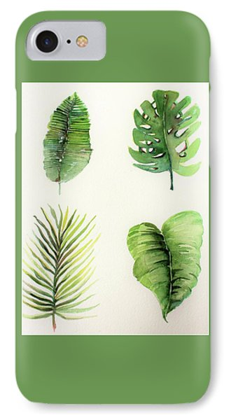 Palms IPhone Case by Mindy Newman
