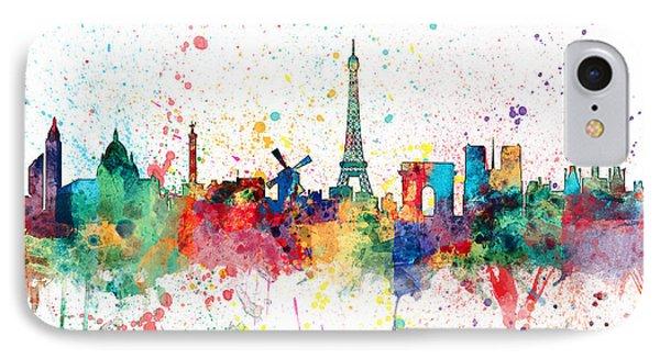 Paris France Skyline IPhone 7 Case by Michael Tompsett