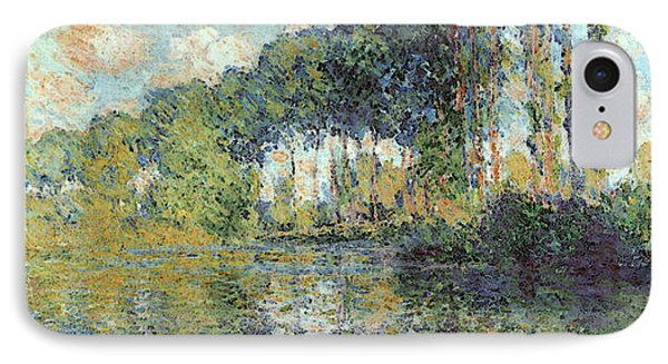 Poplars On The Epte IPhone Case by Claude Monet