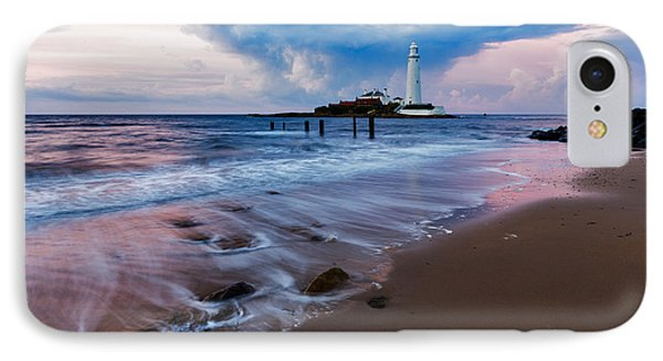 Saint Mary's Lighthouse At Whitley Bay IPhone Case
