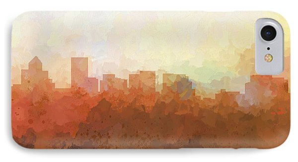 IPhone Case featuring the digital art Salem Oregon Skyline by Marlene Watson