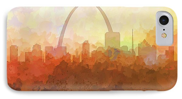 IPhone Case featuring the digital art St Louis Missouri Skyline by Marlene Watson
