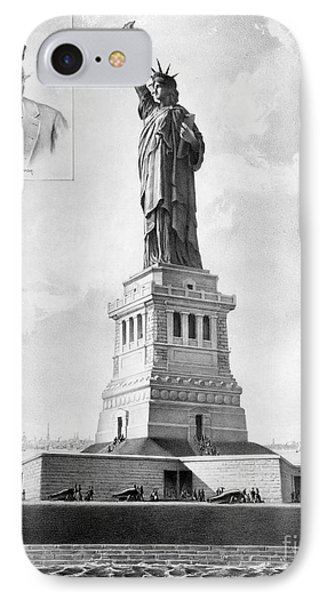 Statue Of Liberty, 1886 IPhone Case by Granger