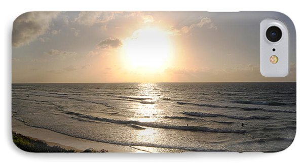 Sunset At Jaffa Beach 10 IPhone Case by Isam Awad